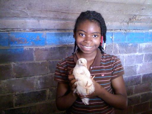 Denetra and baby chick